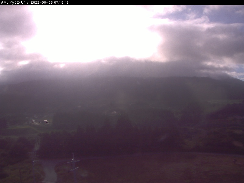 Kyoto webcam - Aso Volcanological Laboratory 1 webcam, Kansai, Kyoto Prefecture